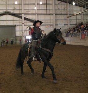 Gilbert Roy on stallion Dreamboy Kurt from Storybook Horse Farm in Oregon