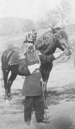 An American artillery officer and his Canadian horse. C. 1861