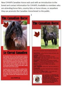 Click to enlarge. Rack cards are available to members to promote the breed.